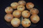 Mini - Käsekuchen, Käsekuchen-Muffins mit Cranberries