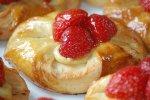 Plunderteilchen mit Frucht, Früchteplunder mit Erdbeeren