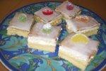 Zitronenschnitten, idealer Kuchen für Kinder-Geburtstage