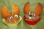 Orangen-Cupcake mit Schoko-Creme