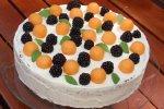 Melonen-Brombeer-Torte