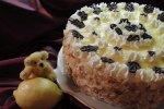 Zitronencremetorte, Torte mit Zitronencreme